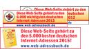 Logo Webadressbuch 2012-2015 - druckereien.info mehrfach ausgezeichnet.